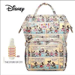 Disney vintage Comic Diaper Bag mommy Backpack